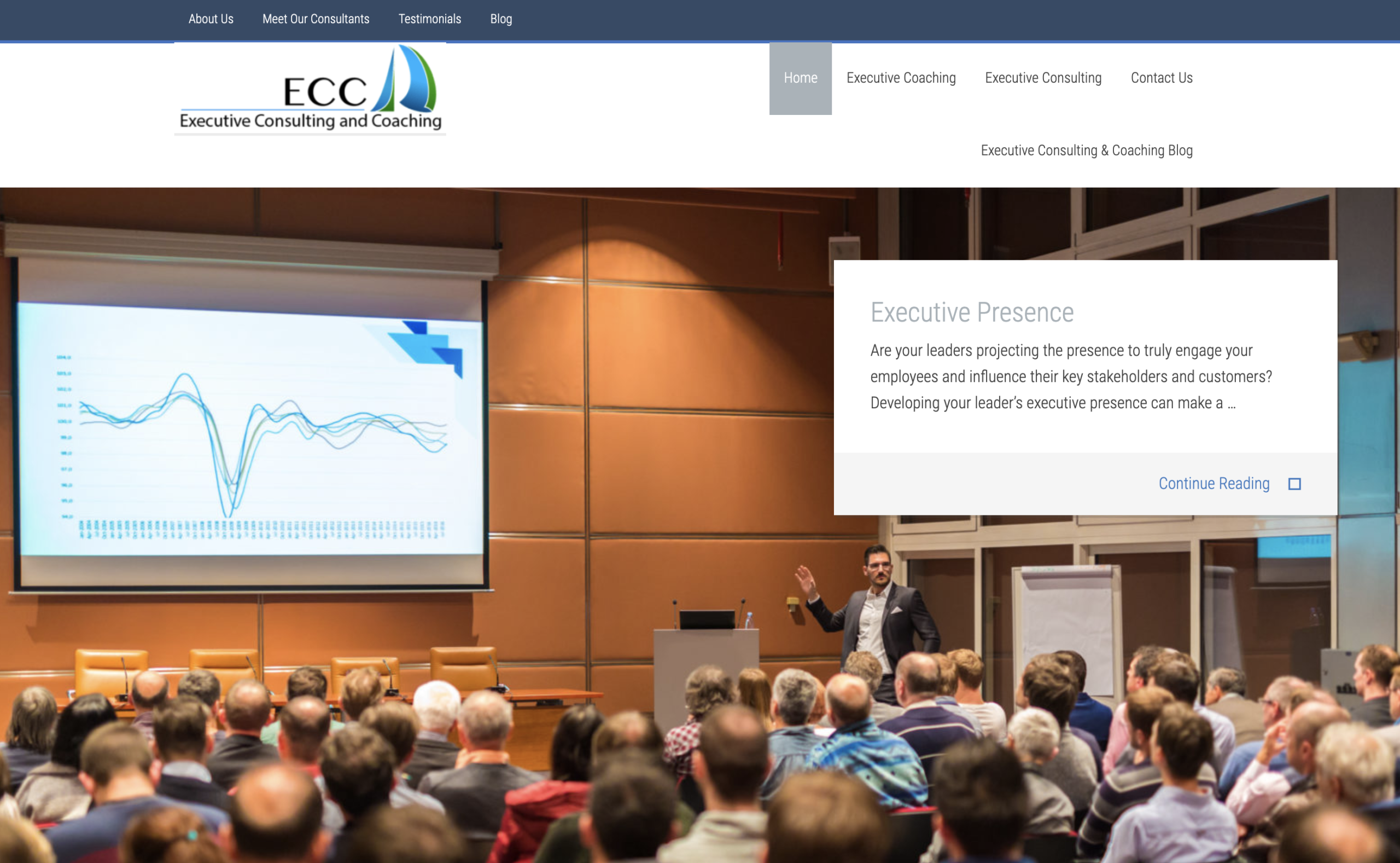 Executive Consulting and Coaching Website
